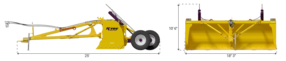 K-Tec Model 1814 Flex Land Leveller at GKB Equipment